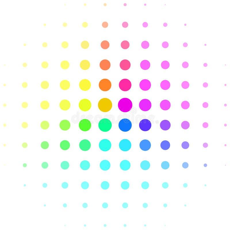 Sphère tramée d'arc-en-ciel coloré abstrait d'isolement illustration stock