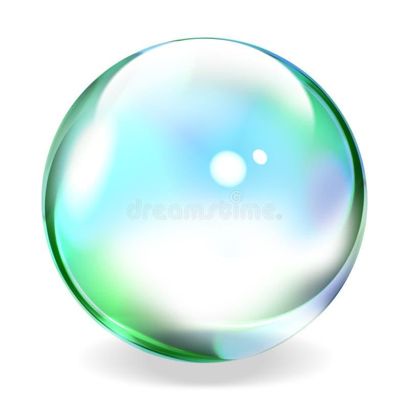 Sphère transparente illustration stock