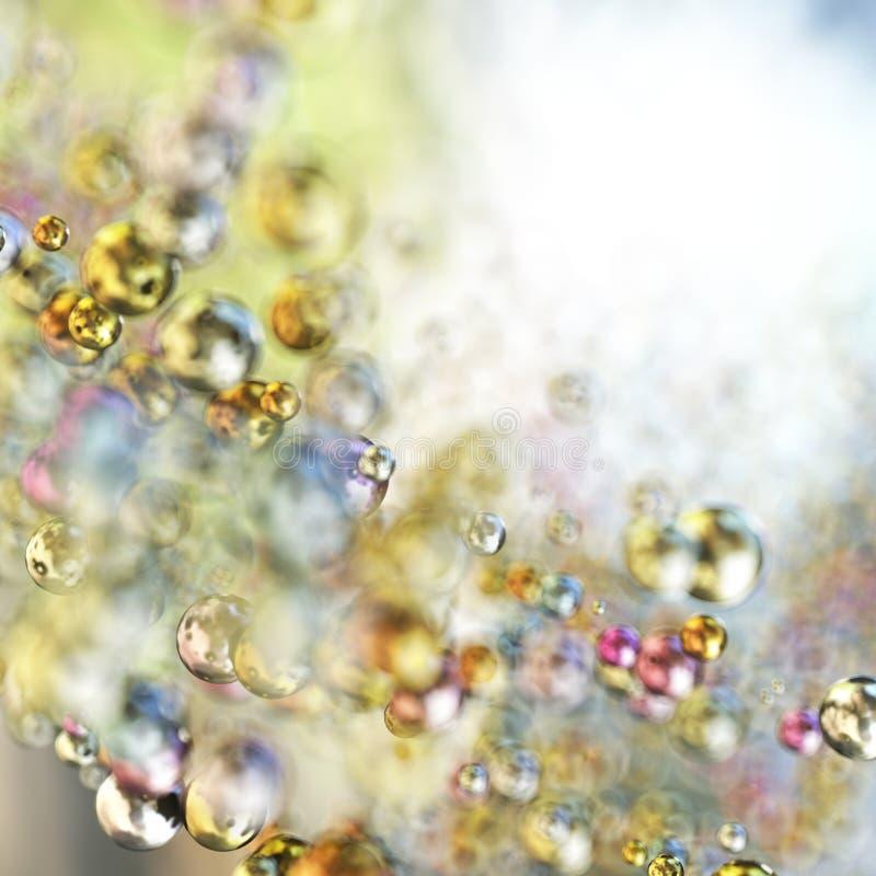 Sphères colorées abstraites photo stock