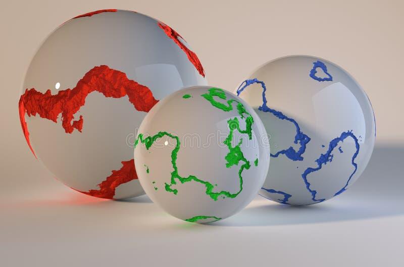 Sphères criquées image libre de droits