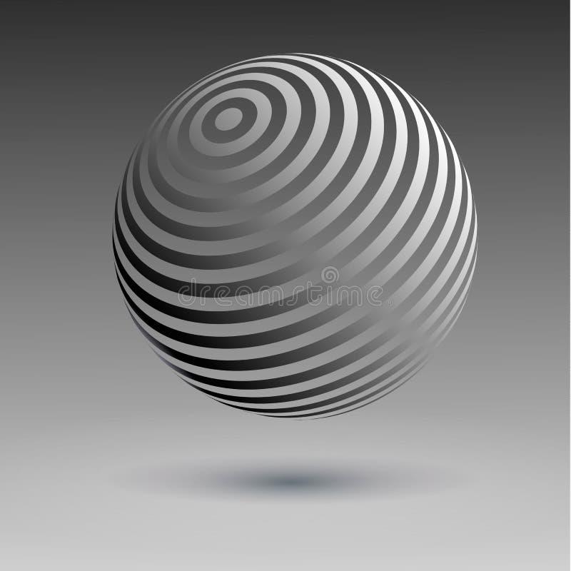sphères d'image tramée du vecteur 3D Ensemble de milieux tramés de vecteur Éléments tramés de conception illustration libre de droits