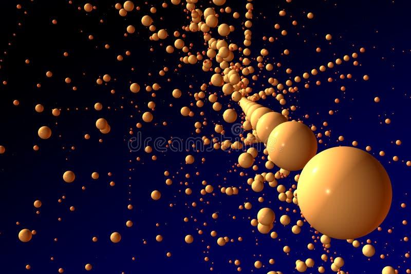 sphères de l'espace illustration de vecteur