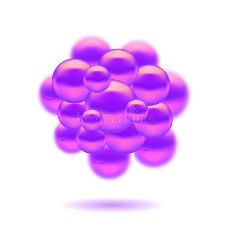 Sphères de molécules illustration de vecteur