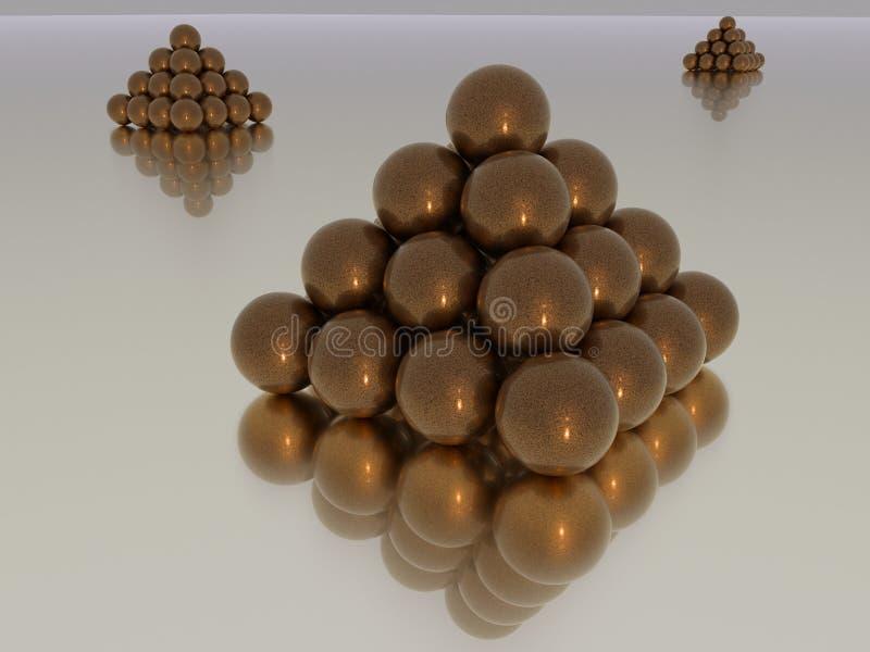 Sphères empilées photo libre de droits