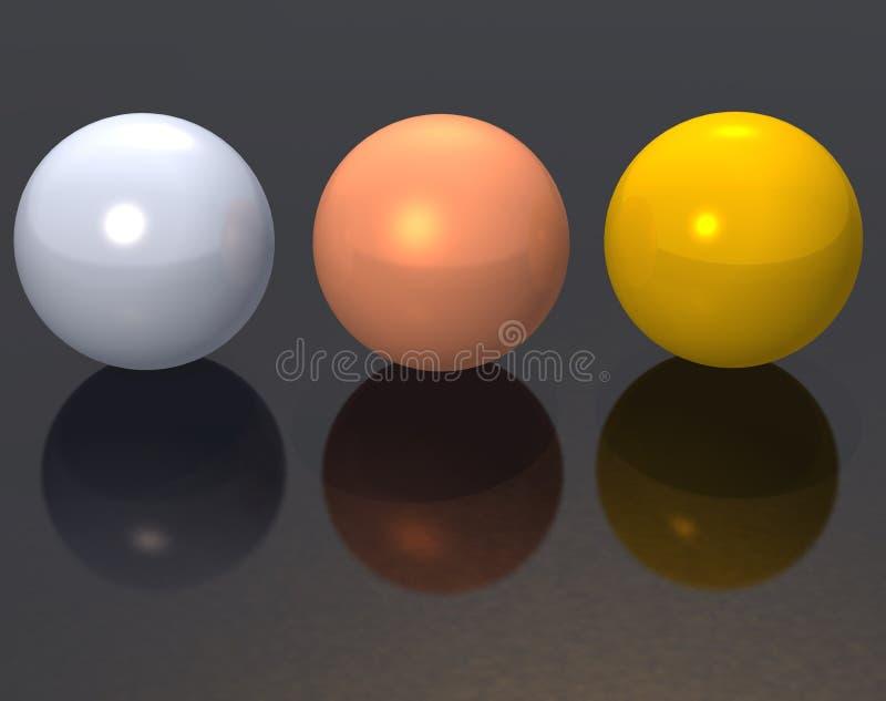 Sphères en métal illustration stock