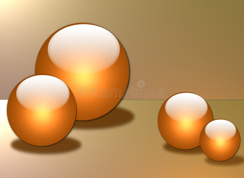 Sphères en verre illustration stock