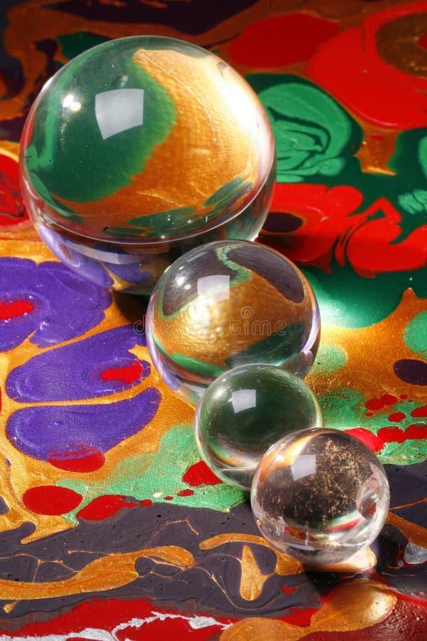 Sphères en verre   photo stock