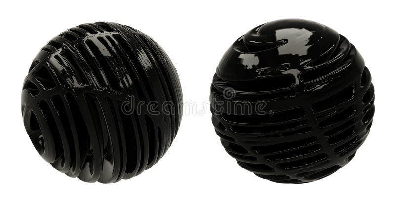 Sphères foncées du résumé 3D illustration de vecteur