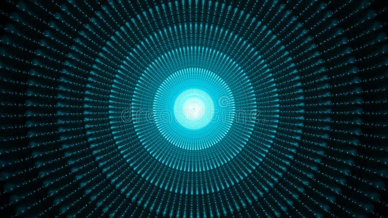 Sph?re 3d abstraite faite de points Fond de l'espace de galaxie Particules de sph?re rendu 3d illustration de vecteur