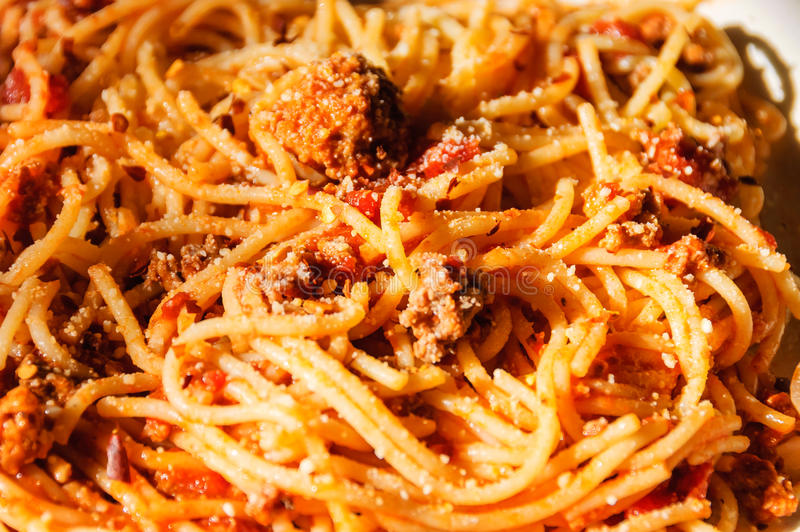 Sphaghetti With Meat Balls stock photo