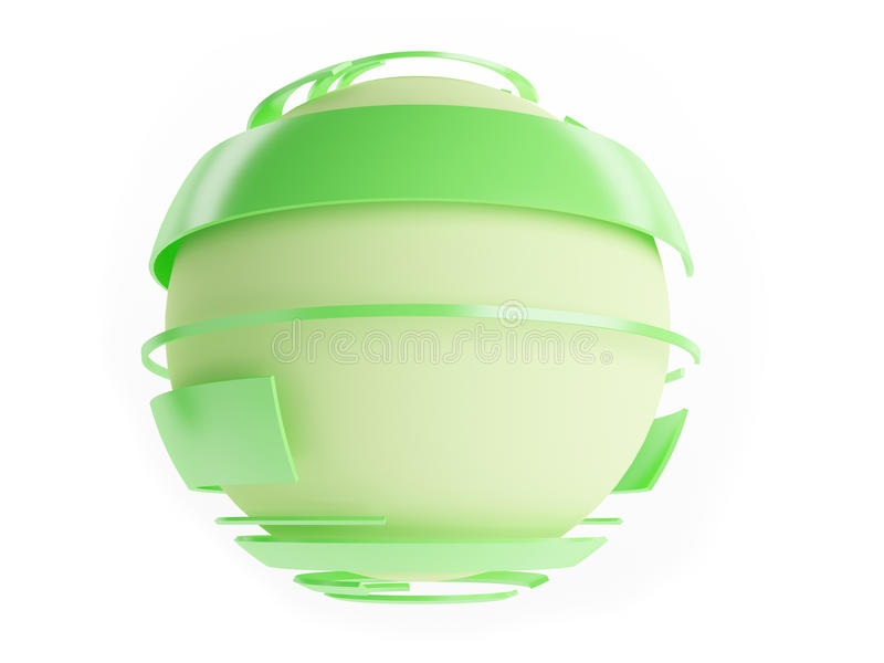 Download Sphere stock illustration. Image of green, nobody, isolated - 15426146