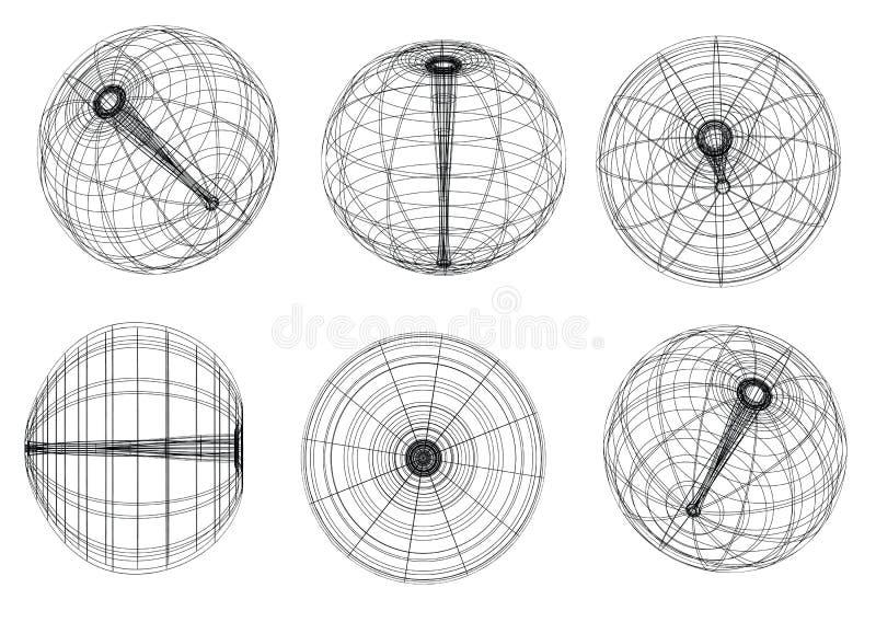 Sphere royalty free illustration