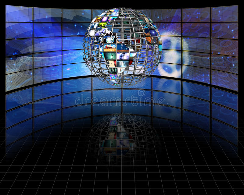 Download Sphere stock illustration. Image of hdtv, concept, cinema - 23668749