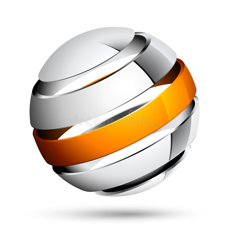 Sphere 3d design royalty free illustration