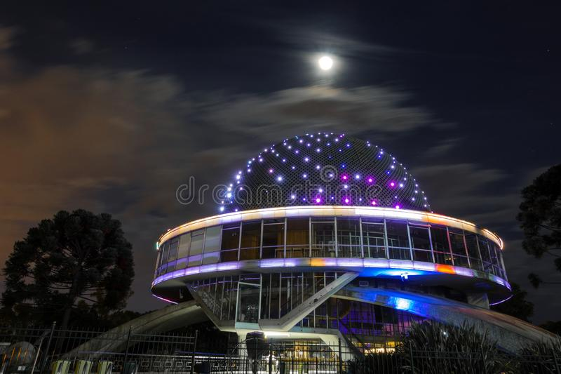 The sphere architecture of the Galileo Galilei planetarium in Buenos Aires, Argentina stock photography