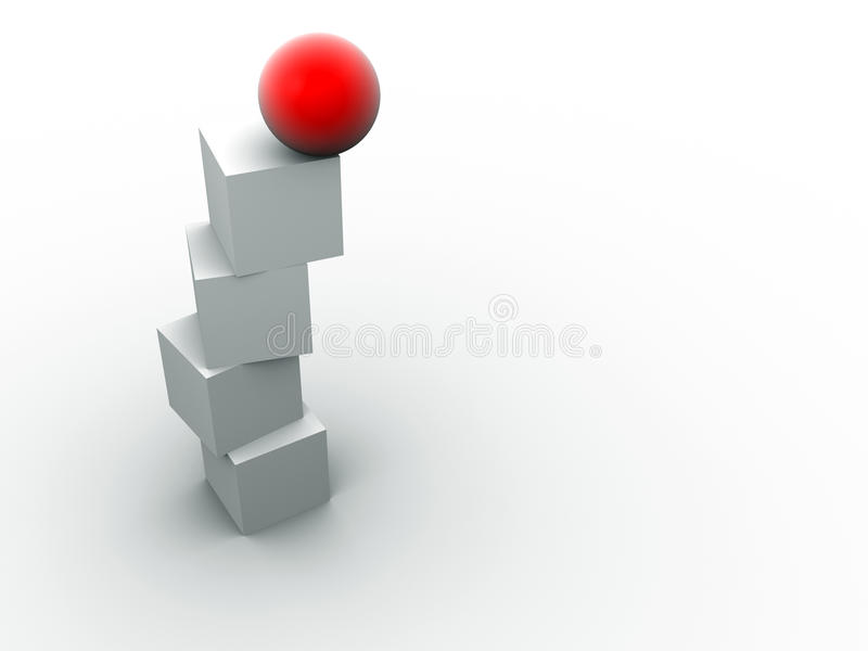 Sphere in balance stock illustration