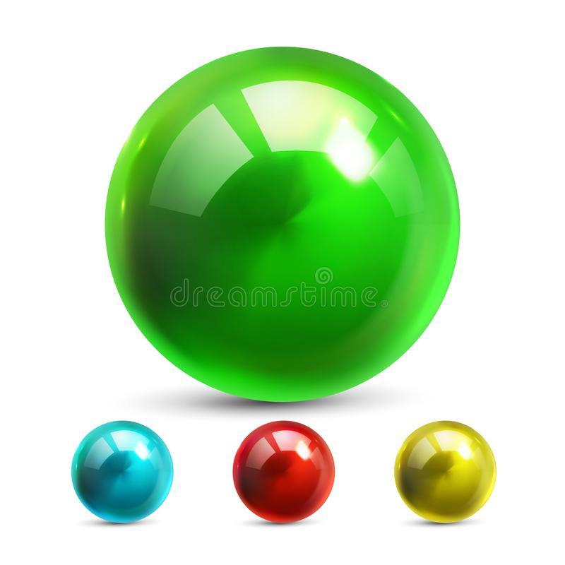 Vector set of marble ball stock vector  Illustration of image