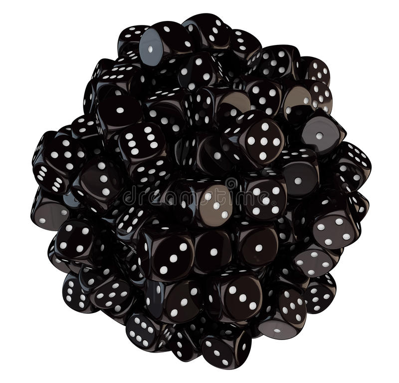 Download Sphere From Black Dice Royalty Free Stock Photos - Image: 28574798