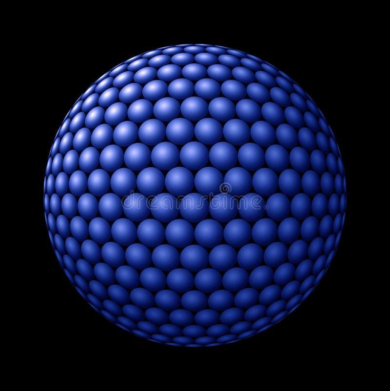 Download Sphere Of Blue Spheres Against Black Stock Illustration - Image: 22029565