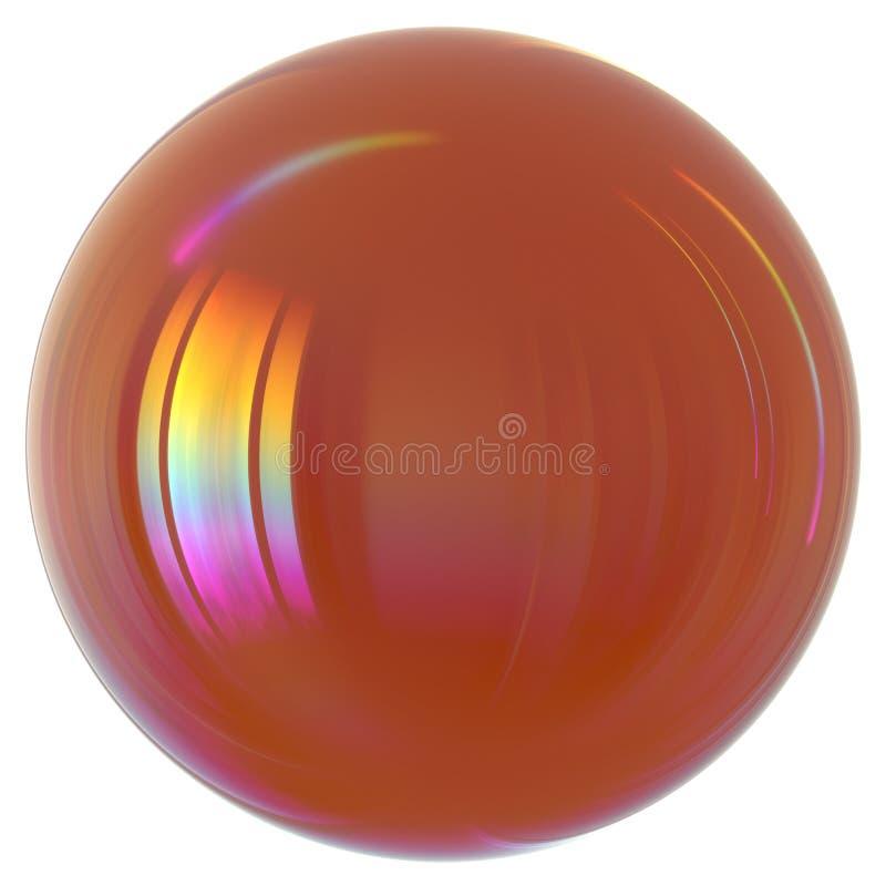 Sphere bubble round oil drop orange close-up stock illustration