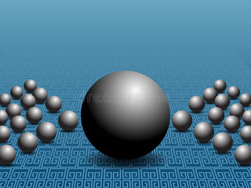 Sphere Business Chart Slide. An image of a 3D sphere business chart slide stock illustration