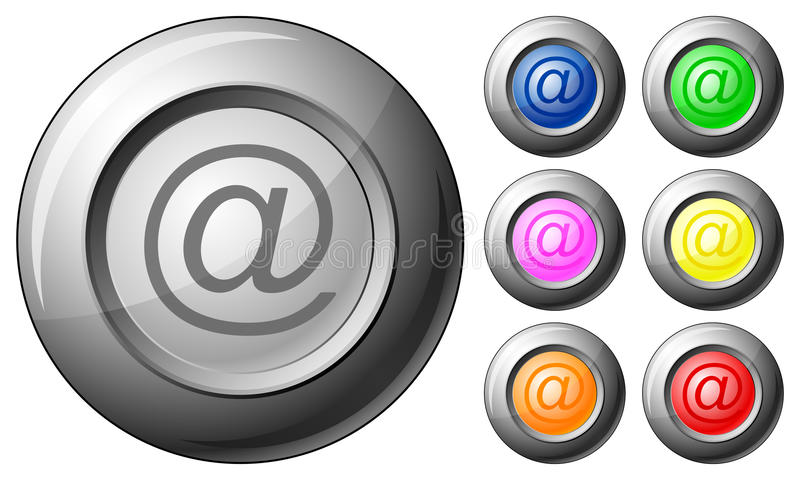 Download Sphere button email stock vector. Illustration of yellow - 15300888