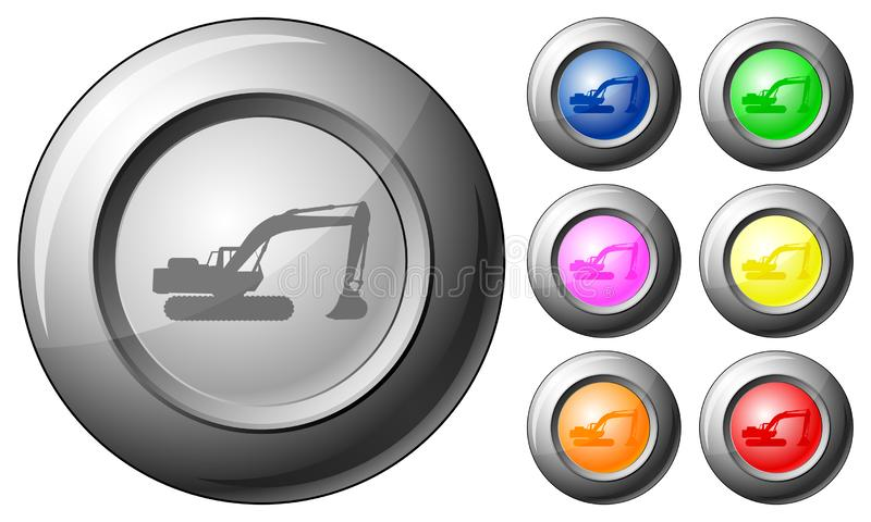 Sphere button excavator royalty free illustration