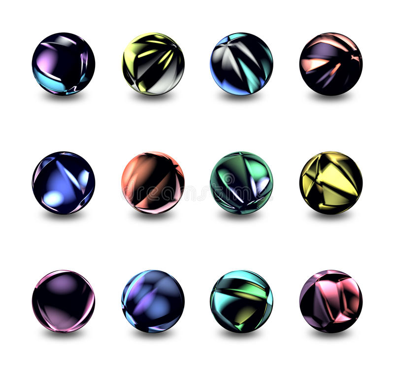 Sphere Buttons Royalty Free Stock Image