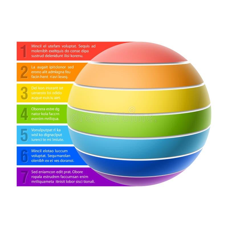 Sphere chart. Template vector illustration vector illustration