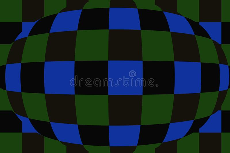 Sphere with checkers. Very beautiful, original background!. Sphere with checkers! Unique, beautiful, lovely, fine, original, fair background stock illustration