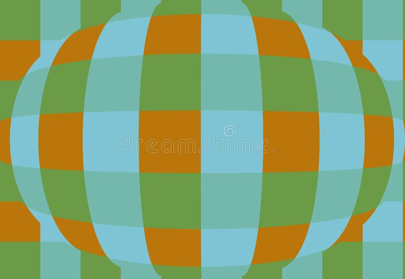 Sphere with checkers. Very beautiful, original background!. Sphere with checkers! Unique, beautiful, lovely, fine, original, fair background royalty free illustration