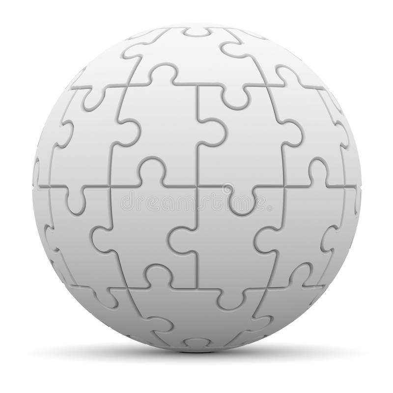 Sphere consisting of puzzles vector illustration