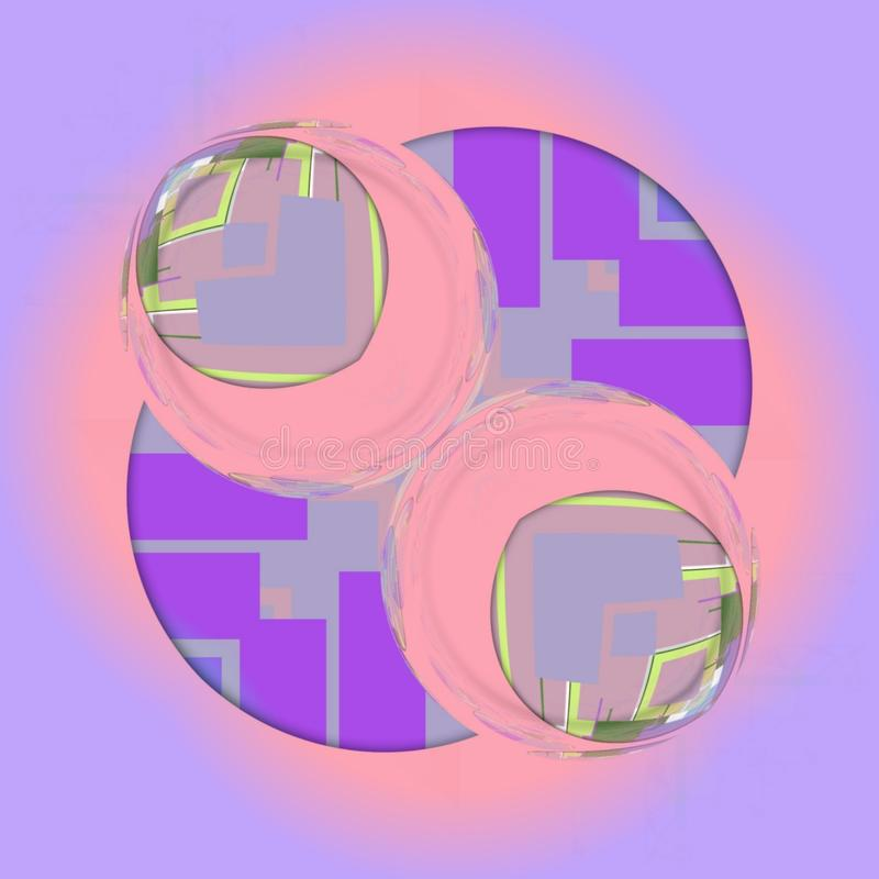Sphere design wirh abstract form with pink and violet colors. Sphere design  abstract form with pink and violet colors vector illustration