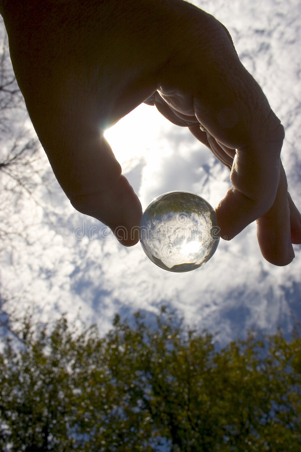 Download Sphere Drop stock photo. Image of thought, crystal, hand - 1056