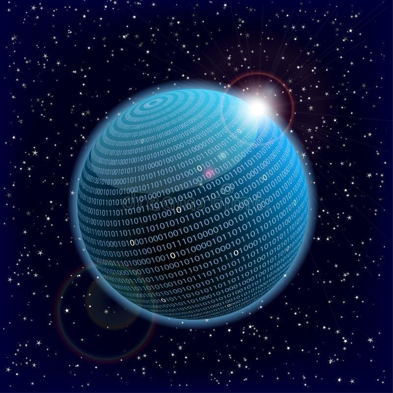 sphere för binära data vektor illustrationer