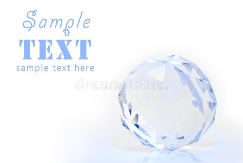 sphere för crystal fasett arkivfoto