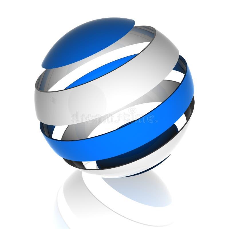 sphere för design 3d stock illustrationer