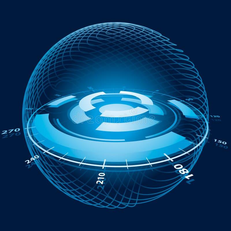 sphere för fantasinavigeringavstånd royaltyfri illustrationer