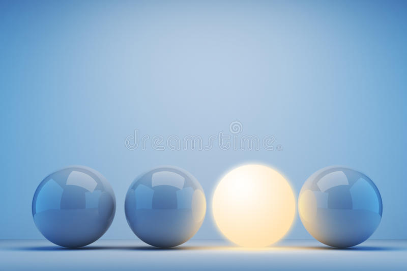 sphere för innovation för begrepp 3d lysande royaltyfri illustrationer