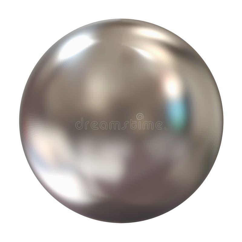 sphere för silver 3d stock illustrationer