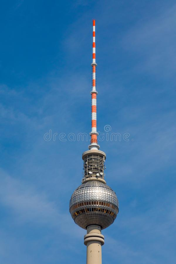 The sphere on the Fernsehturm TV tower in Berlin royalty free stock images