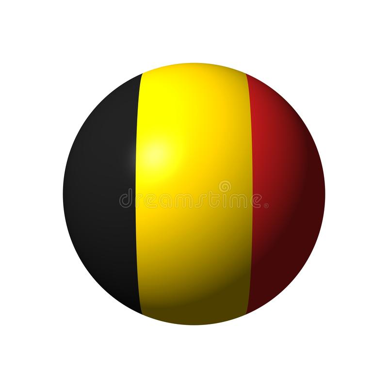 Download Sphere With Flag Of Belgium Stock Illustration - Illustration of country, nation: 36261117