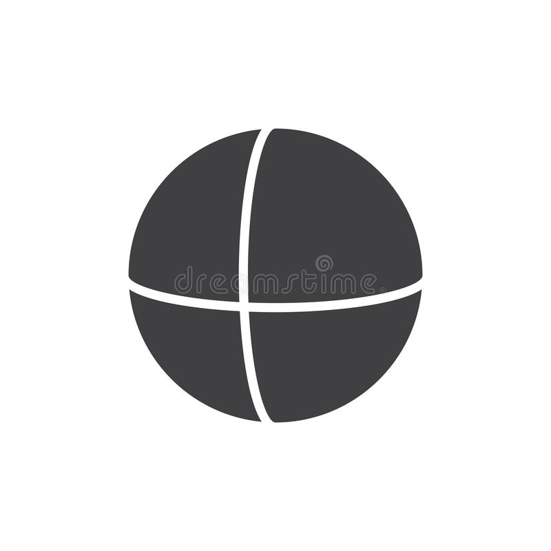 Sphere geometrical figure vector icon. Filled flat sign for mobile concept and web design. Sphere geometric shape simple solid icon. Symbol, logo illustration stock illustration