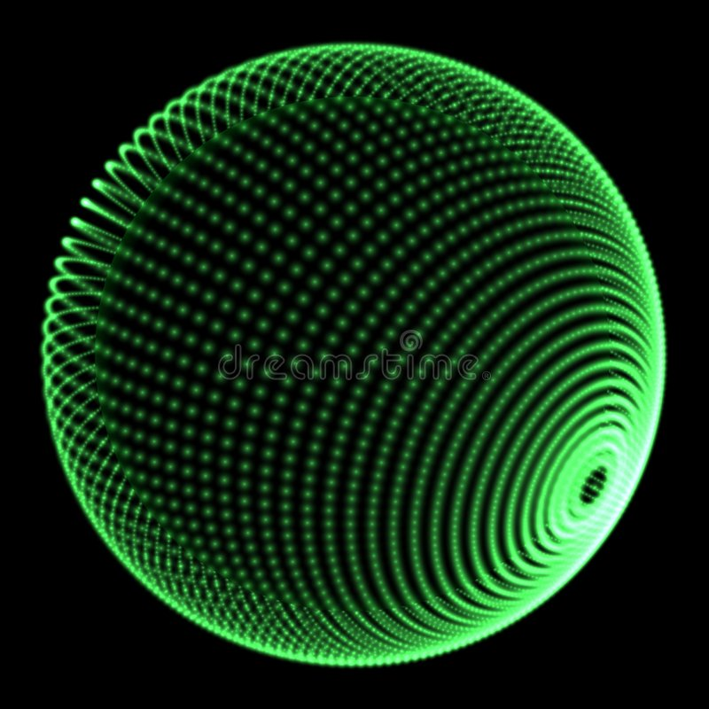Sphere green dots