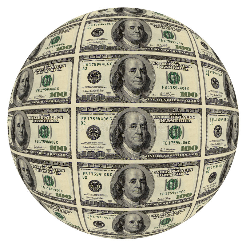 Ball Of A Hundred Dollar Bill 100 Is The Largest Current