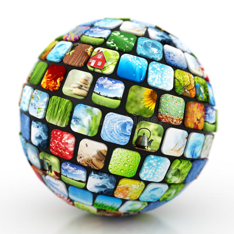 Download Sphere of images stock photo. Image of internet, gallery - 44140012