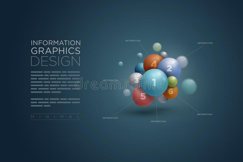 Sphere infographics. Vector abstract sphere infographics design template. Elements are layered separately in vector file