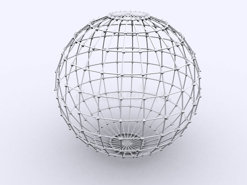 Download Sphere in Lattice stock illustration. Image of moon, earth - 103941