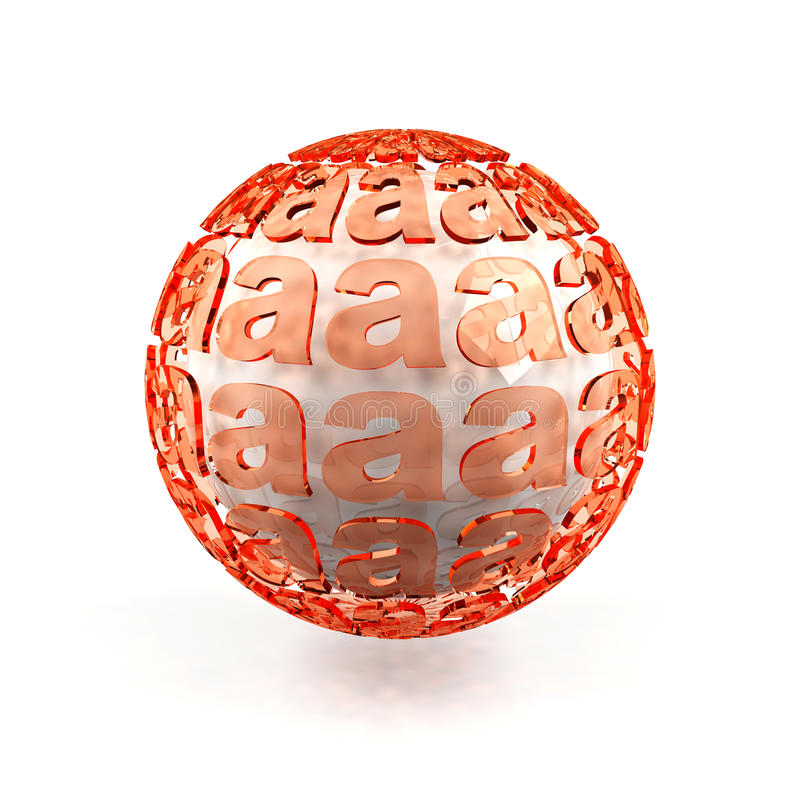 Download Sphere from letters. stock illustration. Image of print - 22634901