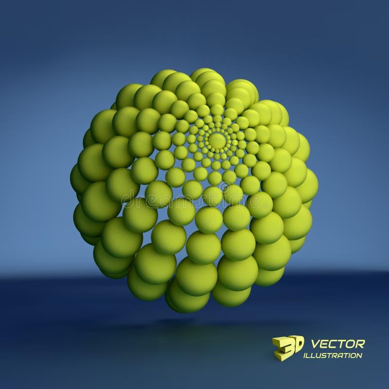 sphere mall för vektor 3d abstrakt illustration vektor illustrationer